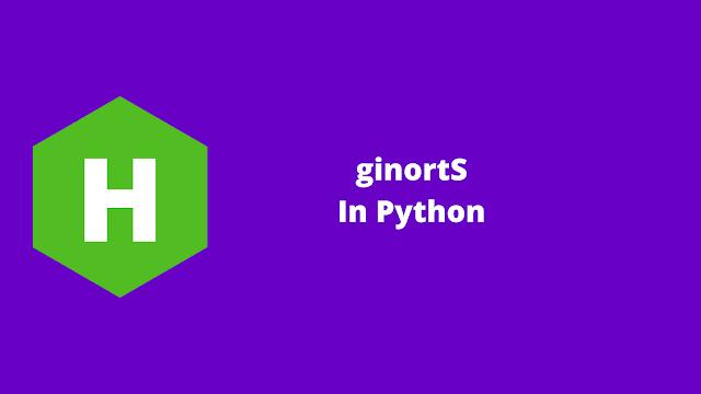 HackerRank ginortS in python problem solution