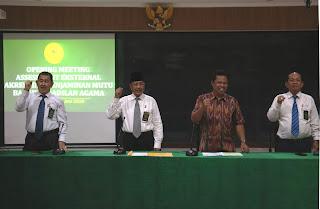 Asesmen Surveillance Pertama Akreditasi Penjaminan Mutu (APM) Pengadilan Tinggi Agama Palembang  12 s.d 14 Juni 2019
