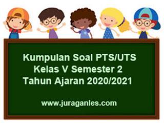 File Download Soal PTS/UTS Kelas 5 Semester 2 T.A 2020/2021