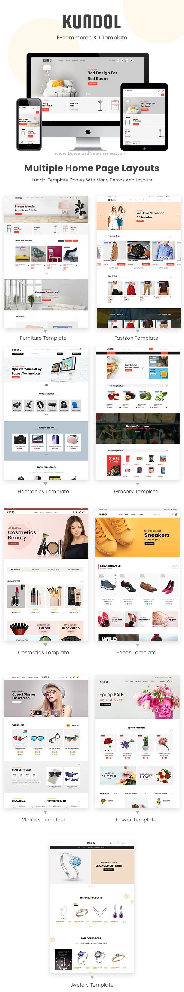Multipurpose Shopping XD Template