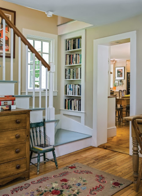 farmhouse staircase in historic home