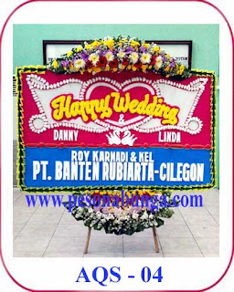 bunga ucapan selamat happy wedding