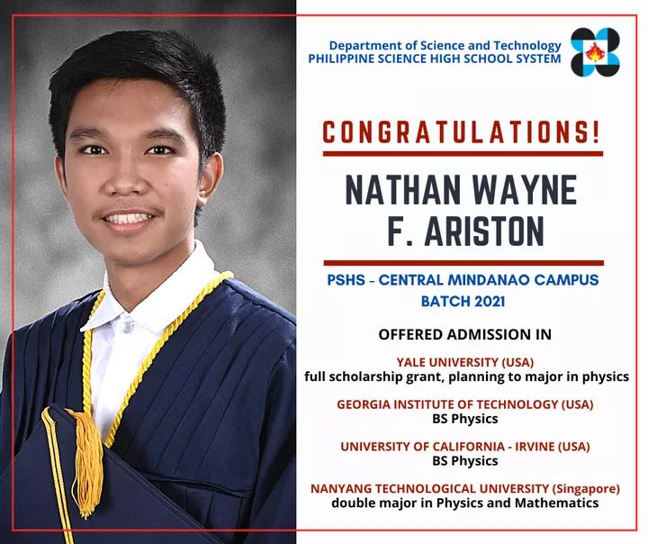 Nathan Ariston Pisay scholar