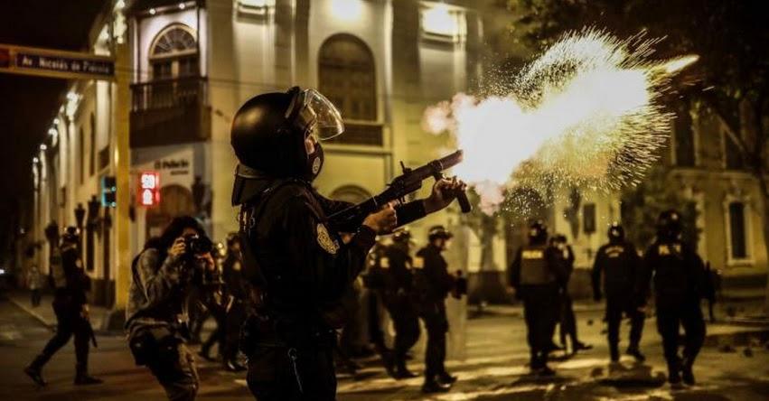 ONU y CIDH advierten represión policial en Perú en protestas por vacancia de Vizcarra
