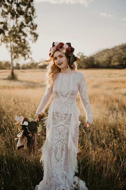QUEENSLAND BOHEMIAN WEDDING GOWNS DRESSES BRIDAL DESIGNER SWEET MARY PHOTOGRAPHY
