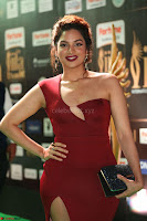 Natasha Nebasha in a Leg Slit Sleeveless Stunning Red Gown at IIFA Utsavam Awards 2017 061.JPG