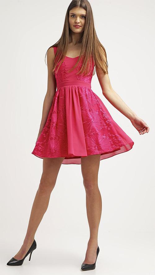 Robe courte de soirée rose Little Mistress