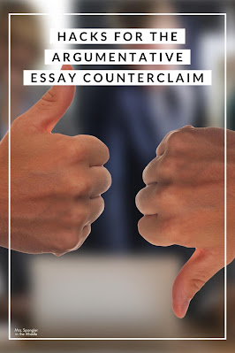 Find out how I help my middle school students remember the structure of a counterclaim in an argumentative essay!