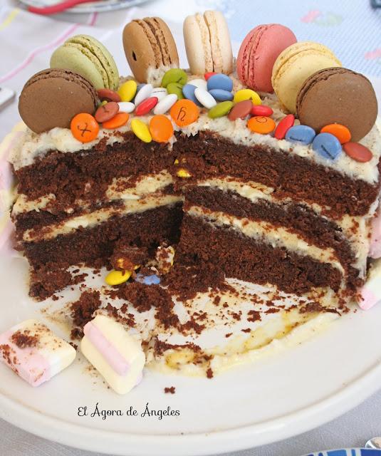 Tarta de chocolate y crema de mango El Ágora