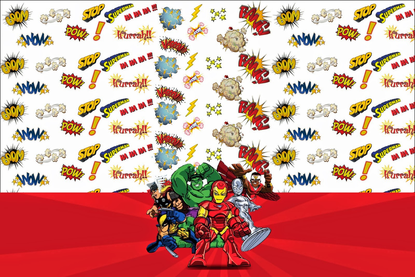 Marvel Superheroes Squad: Free Printable Invitations. | Oh My Fiesta ...
