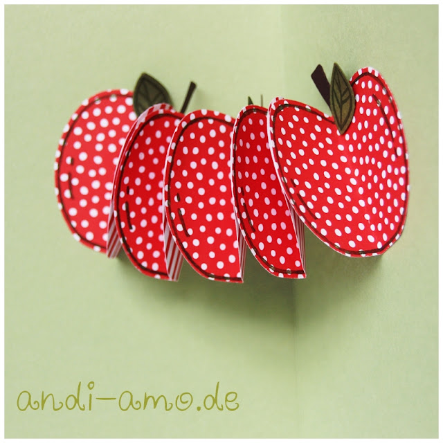 Stampin Up Apfel Girlande mit Stanze