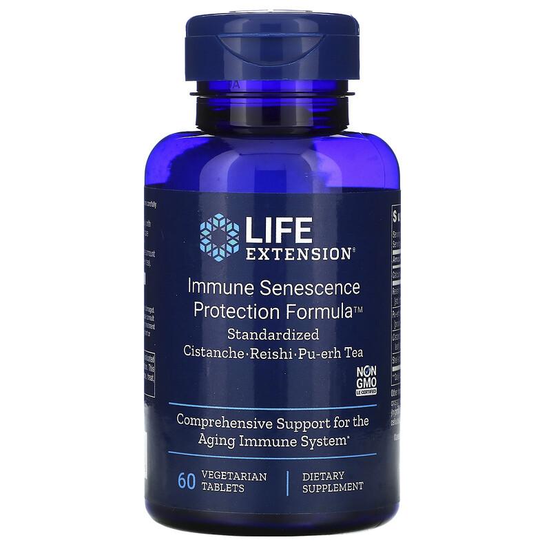 Life Extension, Иммунная формула защиты от старения, 60 вегетарианских таблеток