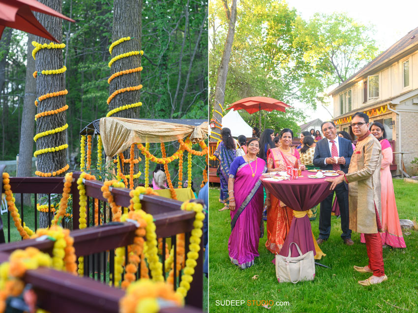 South Asian Indian Wedding Photography Outdoor Wedding Reception Decoration Michigan by SudeepStudio.com Ann Arbor Indian Wedding Photographer
