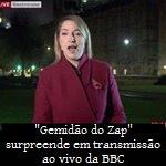 """""""Gemidão do Zap"""" surpreende em transmissão ao vivo da BBC"""