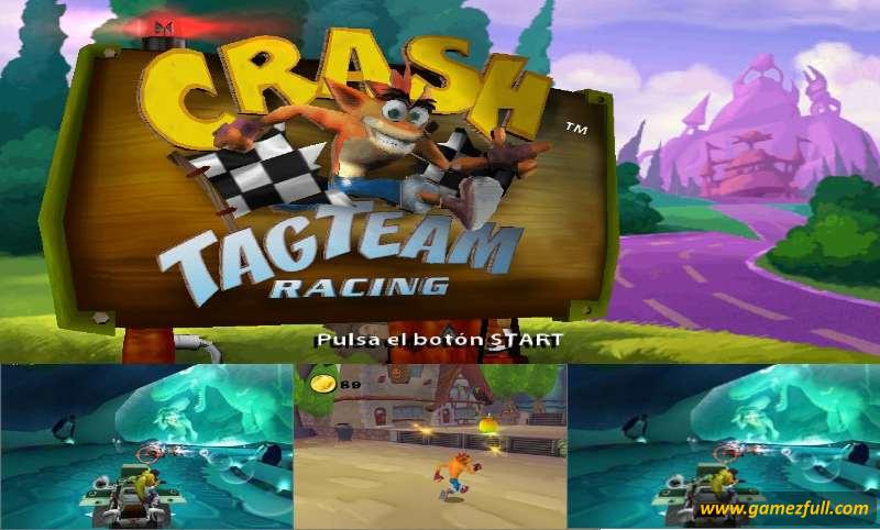 Crash Tag Team Racing psp capturas