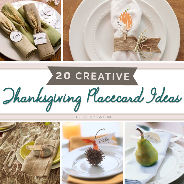 kt dredge design 20 creative thanksgiving place card ideas