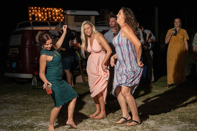 wedding guests dancing at Shadowood Farms wedding in Palm City Florida photo by Houghton Photography