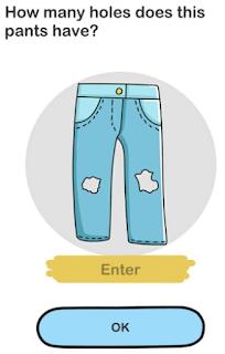 Jawaban Celana ini Sudah Usang Sekali Coba Hitung Ada Berapa Lubang Brain Out