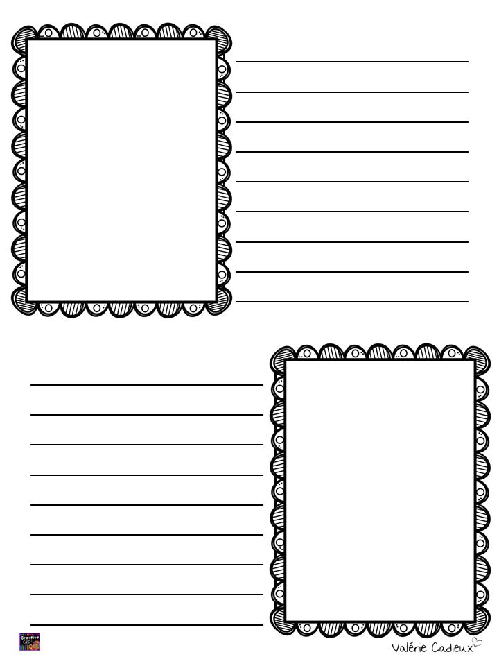 Extrêmement Modèles de feuilles pour l'écriture BA43