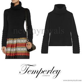 Kate Middleton wore Temperley London Honeycomb Sweater in black