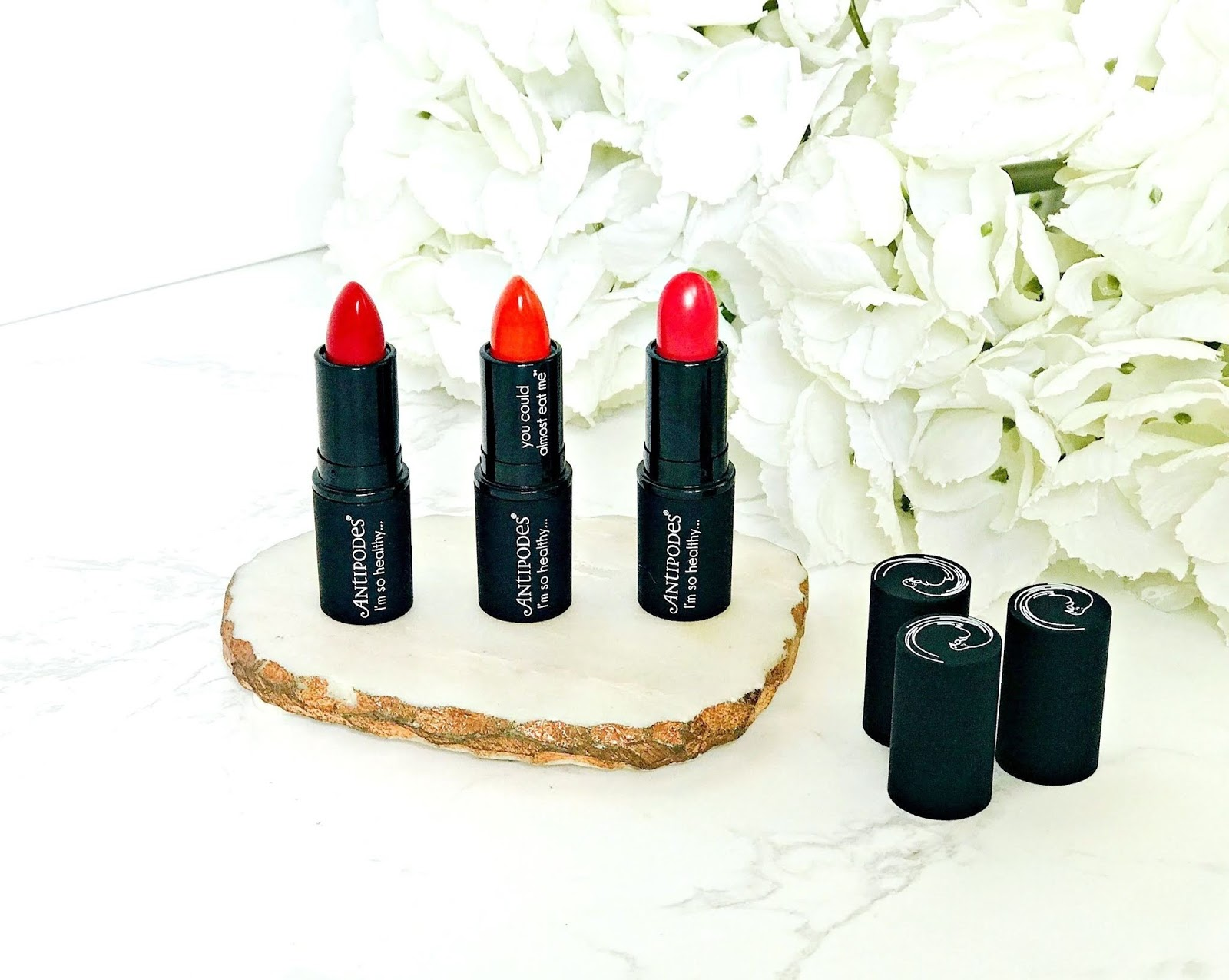 Antipodes Healthy Lipsticks & swatches