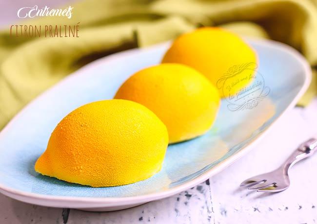 entremets forme citron