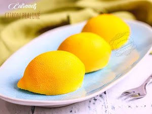 Entremets citron praliné