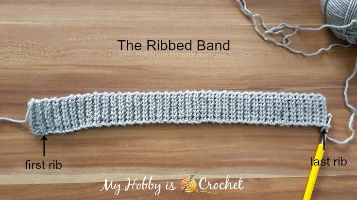 Crochet Ribbed Band - Chic Cable Beanie - Free pattern