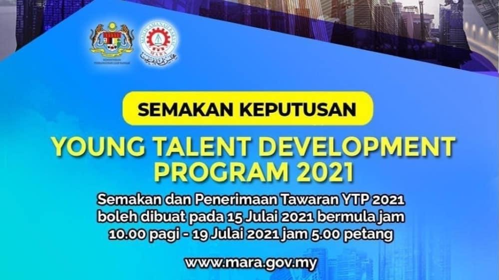 Semakan Keputusan YTP MARA 2021 Online (Rayuan)