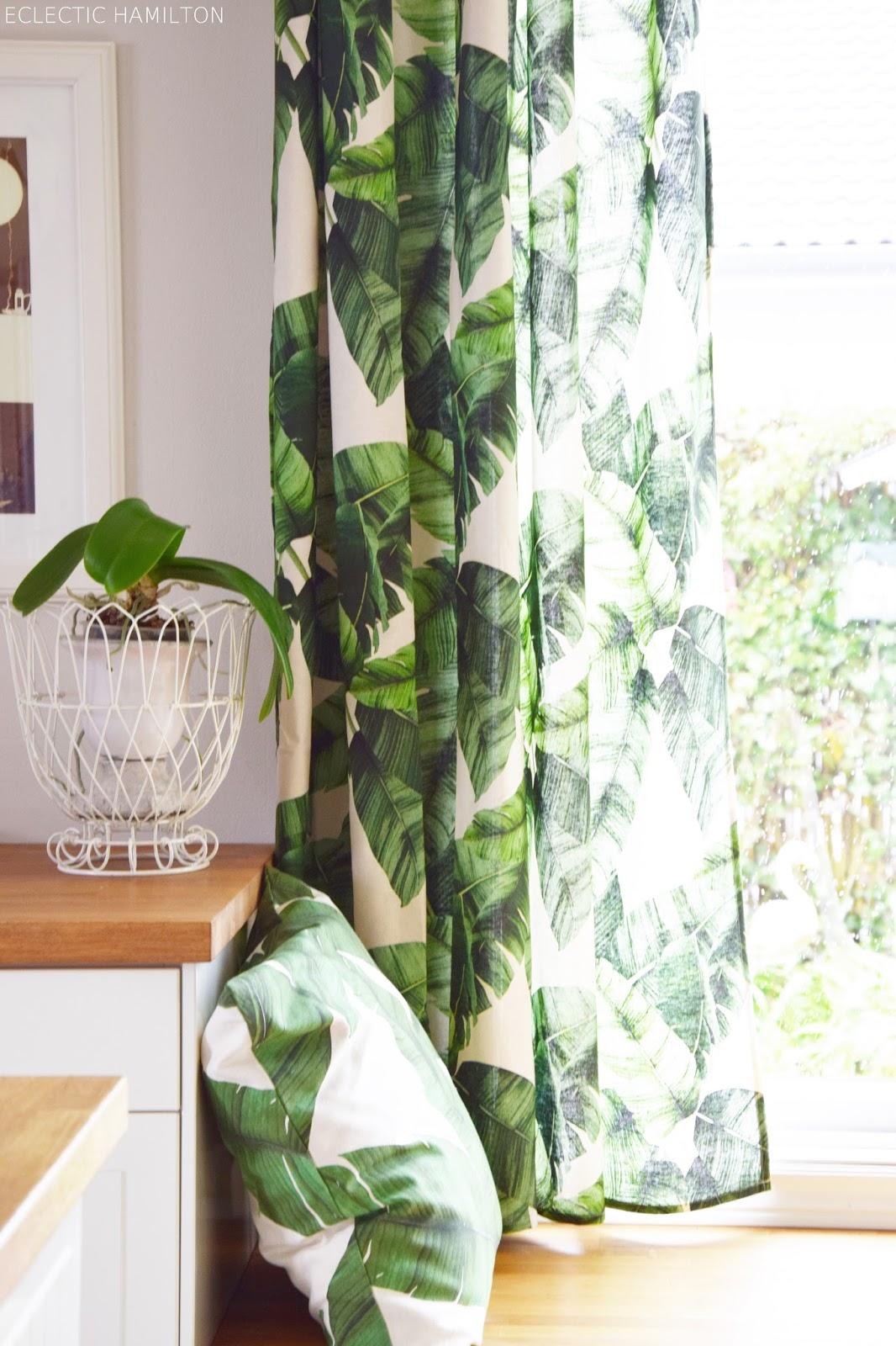 anleitung diy vorhang aus einer tischdecke einfach selber machen ohne nähen dschungel sommer deko
