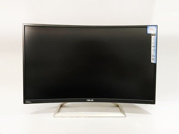ASUS VA326H gaming monitor: affordable price for 144Hz, Curved, Flicker free, Low Blue Light monitor.