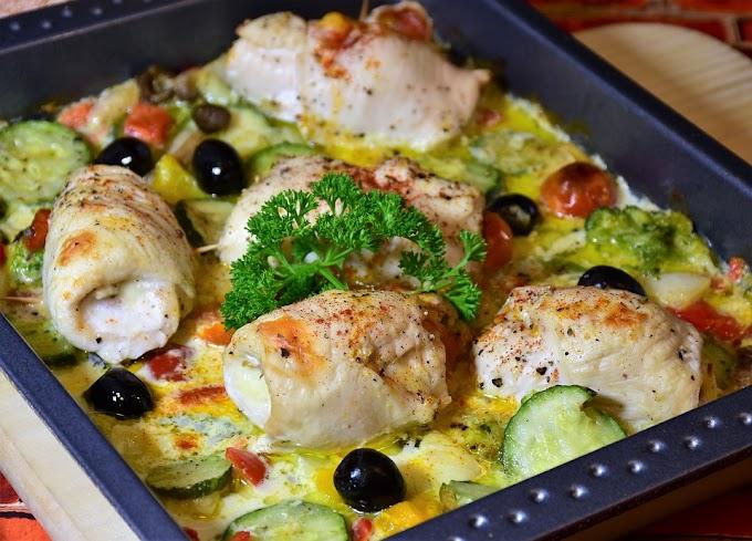 Rollitos de pollo: recetas Keto