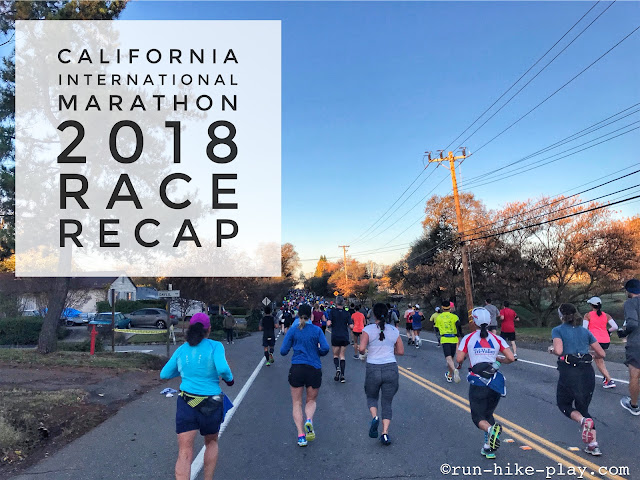 California International Marathon Race Recap 12/2/18