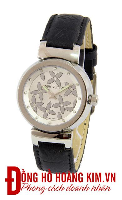Đồng hồ nữ Louis Vuitton dây da giá rẻ dưới 2 triệu tại Hà Nội