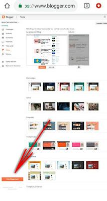 letak menu blogger baru