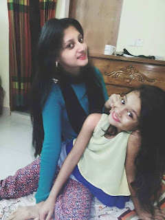 Puja Cherry Roy with A Cute Lady