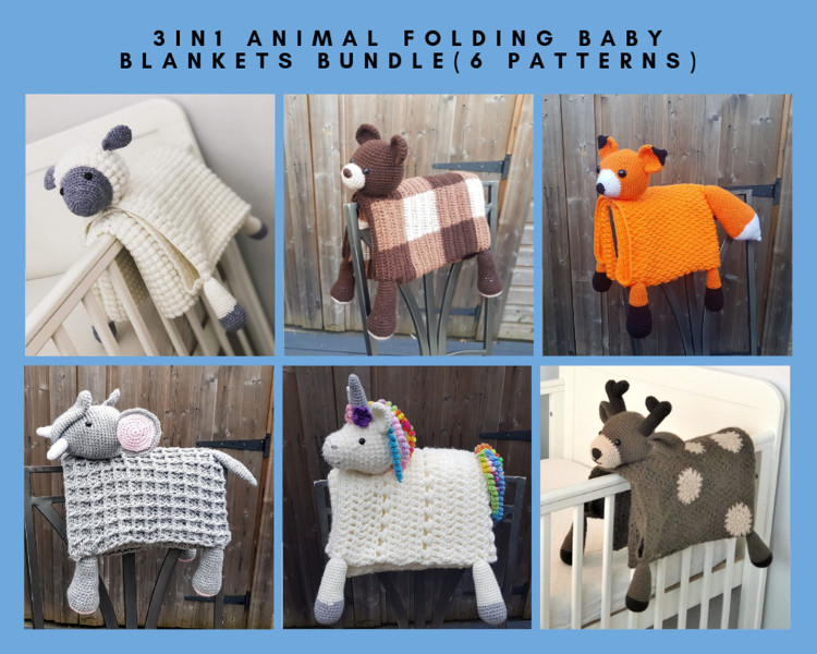 8abdab5f8b9b4 6 Pattern Bundle 3in1 Animal Baby Blankets Toy Decorations ...
