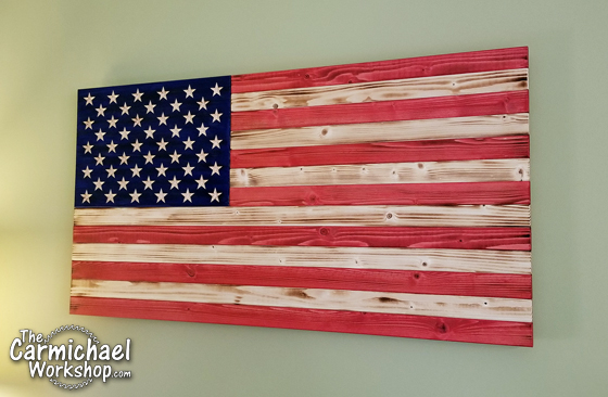 Rustic Wooden American Flag by The Carmichael Workshop
