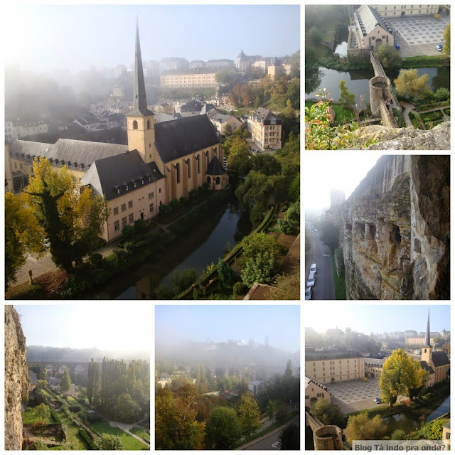 Grund visto da Casamata de Bock, Luxemburgo