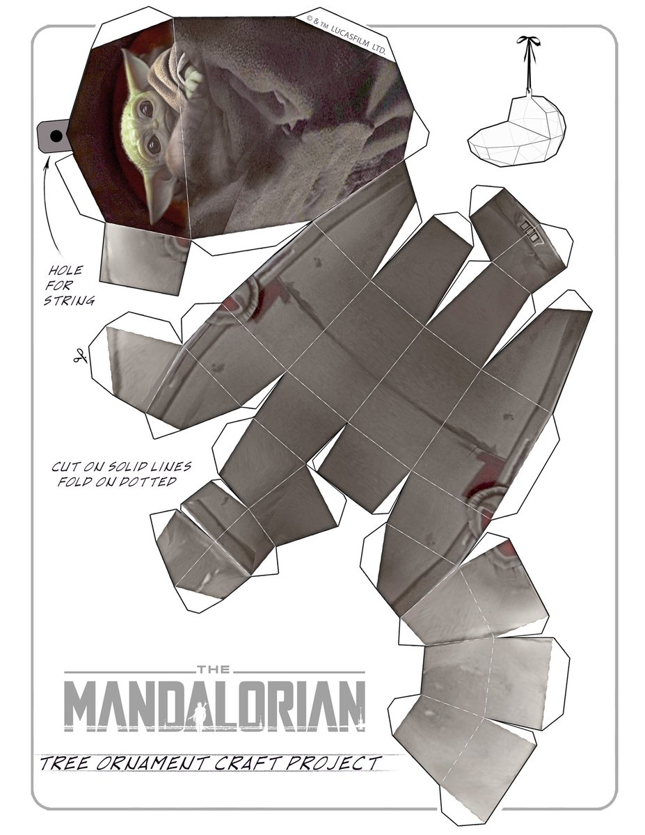 Here's a craft project from The Mandalorian that one of our artists put together for you. Get your scissors and tape.