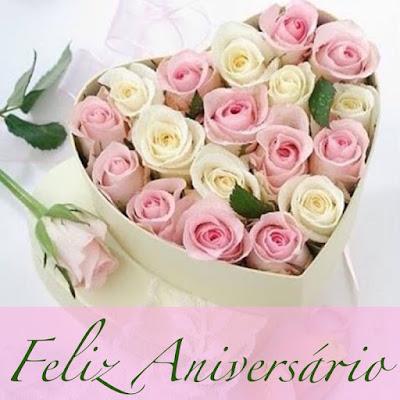 Mensagem de Aniversário com Flores