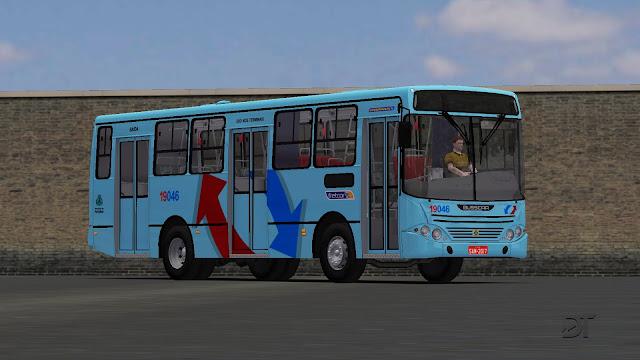 OMSI 2 - Pintura da empresa Fretcar Transportes para o Busscar Urbanuss MB OF-1417