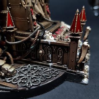 Emperor Golden Throne Warhammer 40k Blanchitsu Grimdark conversion diorama gallery