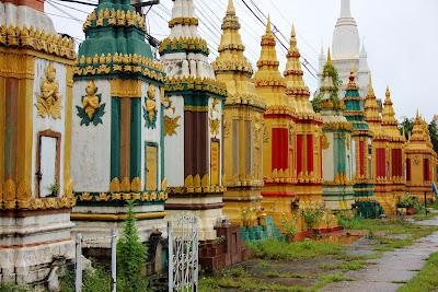 Buddhistischen Tempel Wat Phabad Pakse
