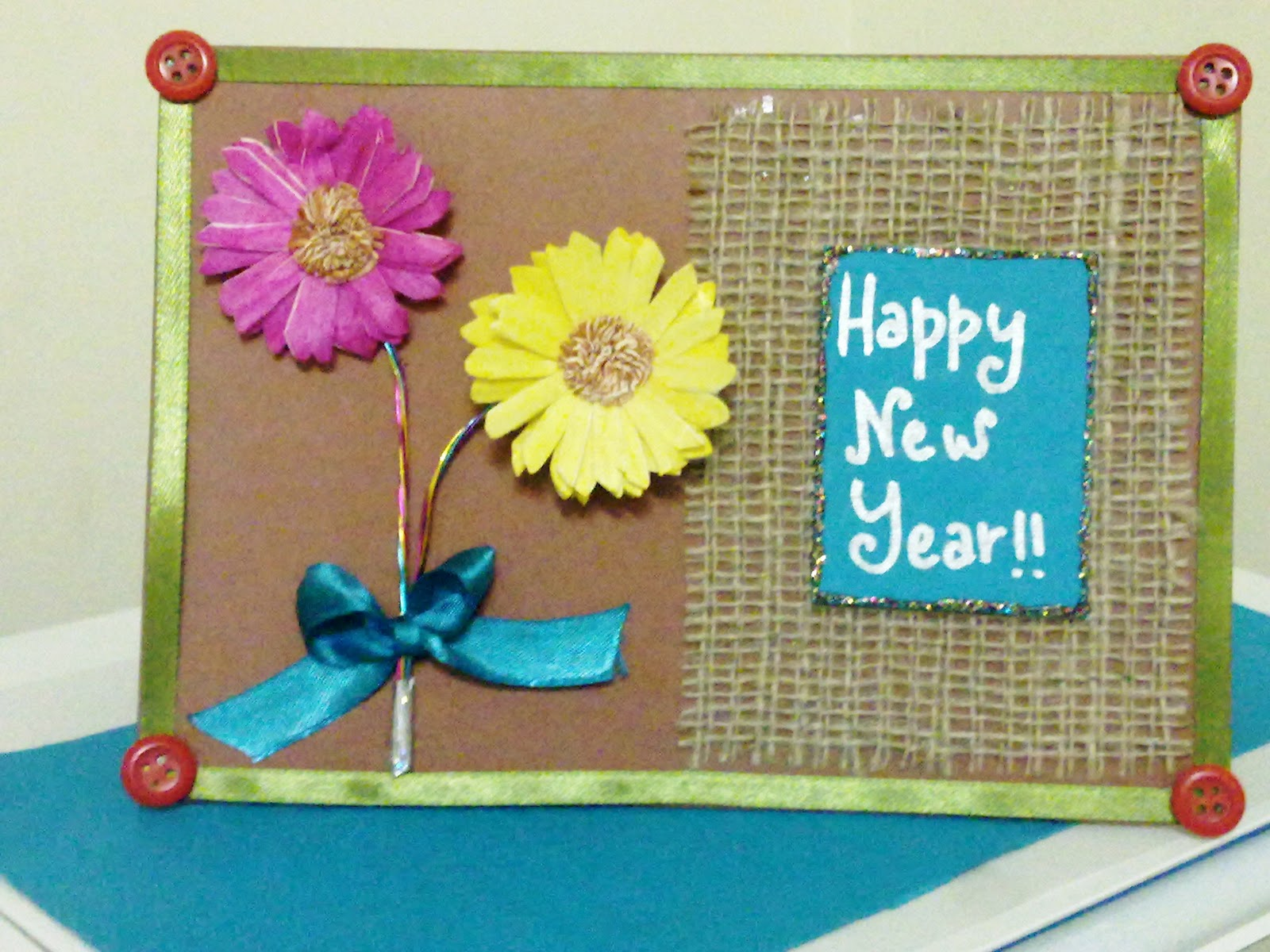 Latest new year card 2018 new year card handmade with new design 5 handmade new year cards most amazing collection kristyandbryce Choice Image