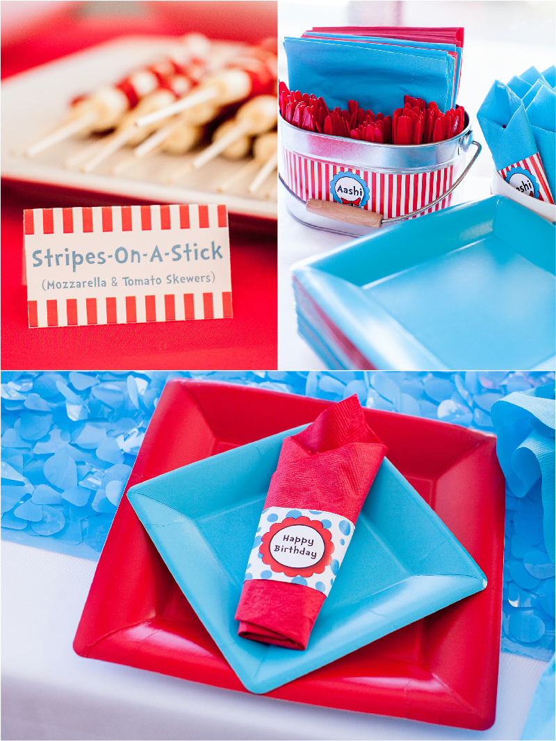 Cat in The Hat Inspired Birthday Party DIY Decorations & Printables - via BirdsParty.com
