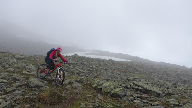 Der Trail ist eine nummer schwerer wenn es nass ist.
