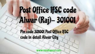 Alwar Post Office IFSC code