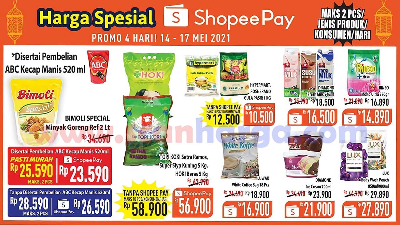 Promo Hypermart harga spesial Pakai Shopeepay