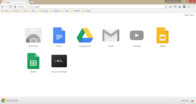Tampilan Apps di Google Chrome